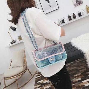 Handbags - Transparent Colorful bag